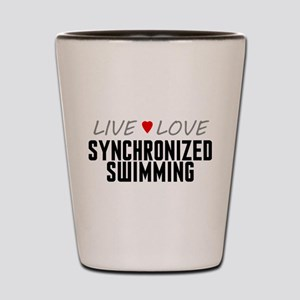 Live Love Synchronized Swimming Shot Glass