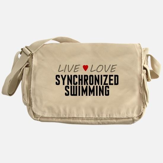 Live Love Synchronized Swimming Canvas Messenger B