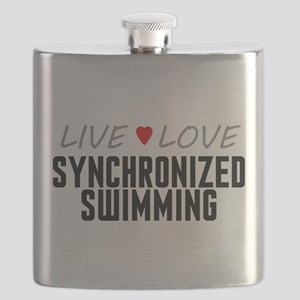 Live Love Synchronized Swimming Flask