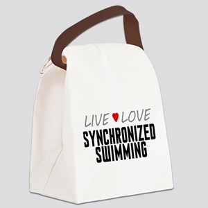 Live Love Synchronized Swimming Canvas Lunch Bag