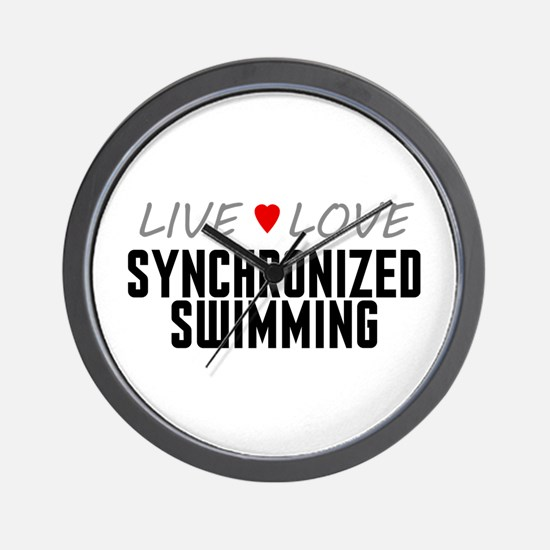 Live Love Synchronized Swimming Wall Clock