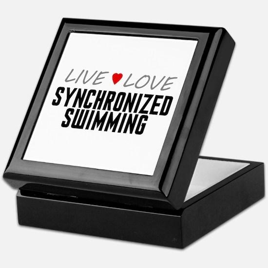 Live Love Synchronized Swimming Keepsake Box