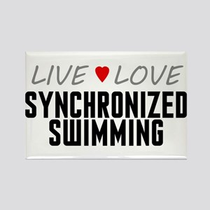 Live Love Synchronized Swimming Rectangle Magnet