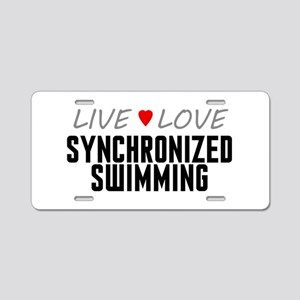 Live Love Synchronized Swimming Aluminum License P
