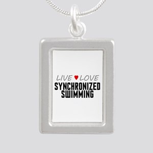 Live Love Synchronized Swimming Silver Portrait Ne