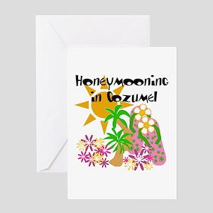 Honeymoon Cozumel Greeting Card