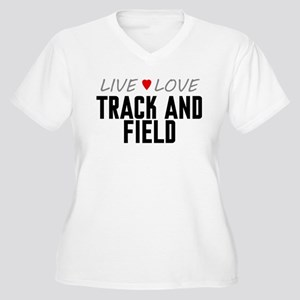 Live Love Track and Field Women's Plus Size V-Neck