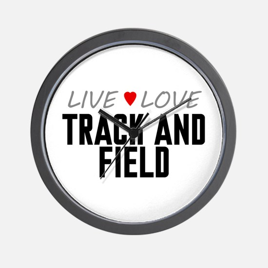 Live Love Track and Field Wall Clock