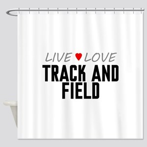 Live Love Track and Field Shower Curtain