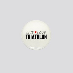 Live Love Triathlon Mini Button