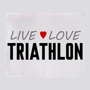Live Love Triathlon Stadium Blanket