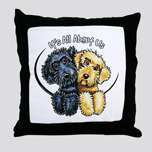 Labradoodle IAAU Throw Pillow