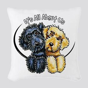 Labradoodle IAAU Woven Throw Pillow