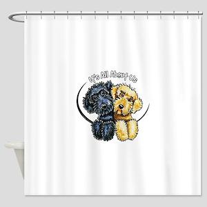 Labradoodle IAAU Shower Curtain