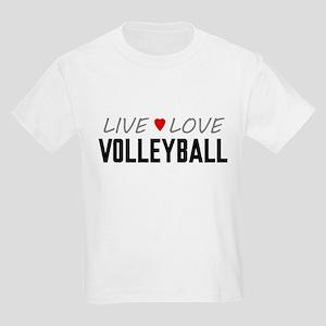 Live Love Volleyball Kids Light T-Shirt