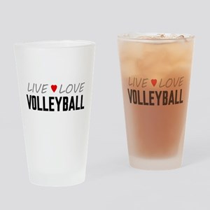 Live Love Volleyball Drinking Glass