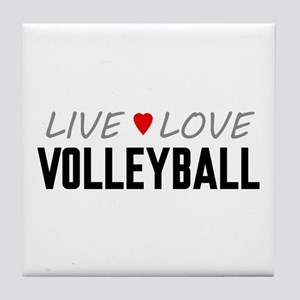 Live Love Volleyball Tile Coaster
