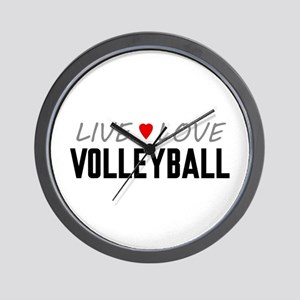 Live Love Volleyball Wall Clock