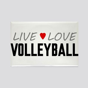 Live Love Volleyball Rectangle Magnet
