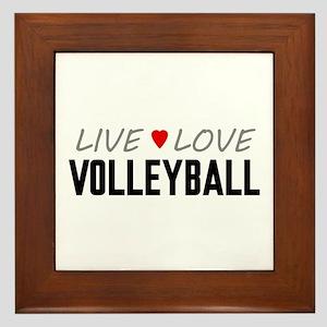 Live Love Volleyball Framed Tile