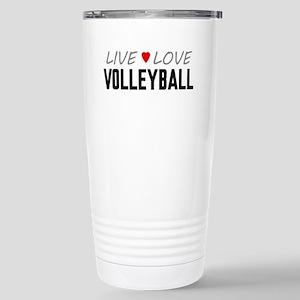 Live Love Volleyball Ceramic Travel Mug