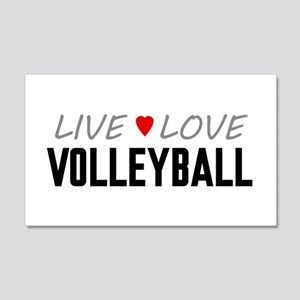 Live Love Volleyball 22x14 Wall Peel