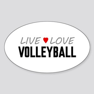 Live Love Volleyball Oval Sticker