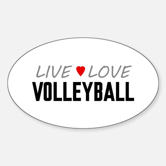 Live Love Volleyball Oval Decal