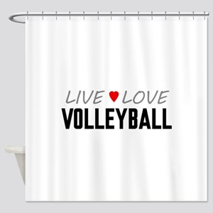 Live Love Volleyball Shower Curtain