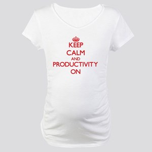 Keep Calm and Productivity ON Maternity T-Shirt
