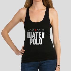 Live Love Water Polo Dark Racerback Tank Top
