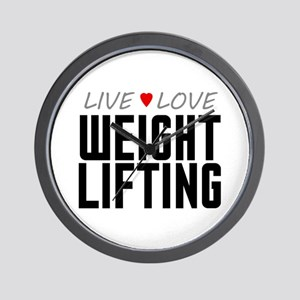 Live Love Weight Lifting Wall Clock