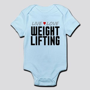 Live Love Weight Lifting Infant Bodysuit