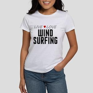 Live Love Wind Surfing Women's T-Shirt