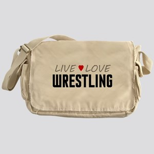 Live Love Wrestling Canvas Messenger Bag