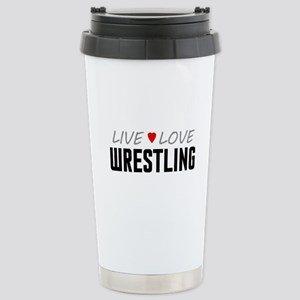 Live Love Wrestling Ceramic Travel Mug
