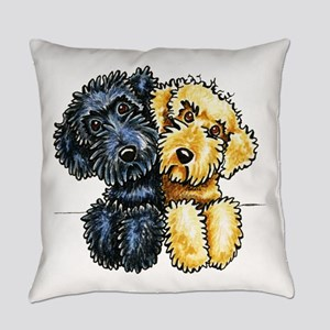 Labradoodles Lined Up Everyday Pillow