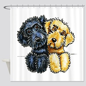 Labradoodles Lined Up Shower Curtain