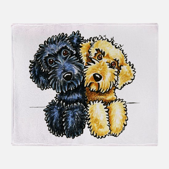 Labradoodles Lined Up Throw Blanket
