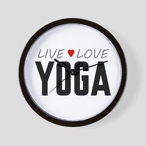 Live Love Yoga Wall Clock