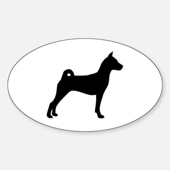 Basenji Dog Oval Decal