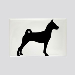 Basenji Dog Rectangle Magnet