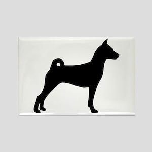 Basenji Dog Rectangle Magnet