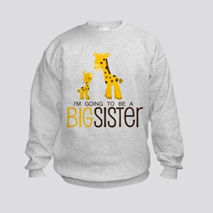 I'm going to be a big sister Kids Sweatshirt