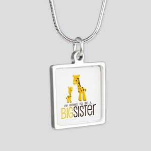 I'm going to be a big sist Silver Square Necklace