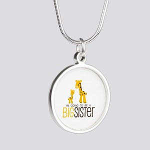 I'm going to be a big sister Silver Round Necklace