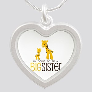 I'm going to be a big sister Silver Heart Necklace