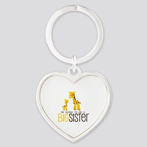 I'm going to be a big sister Heart Keychain