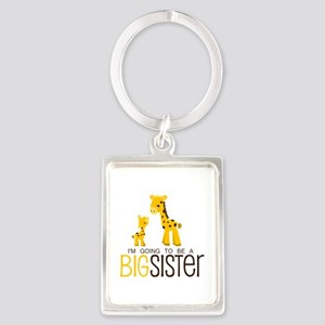 I'm going to be a big sister Portrait Keychain