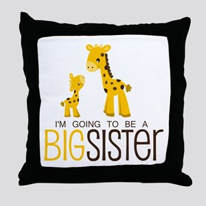 I'm going to be a big sister Throw Pillow